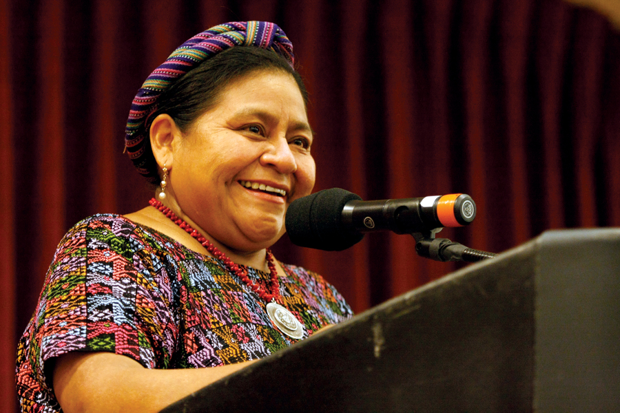 rigoberta menchu thesis Free essay: rigoberta menchu, a quiche indian woman native to guatemala, is a recipient of the nobel peace prize for politically reaching out to her country.