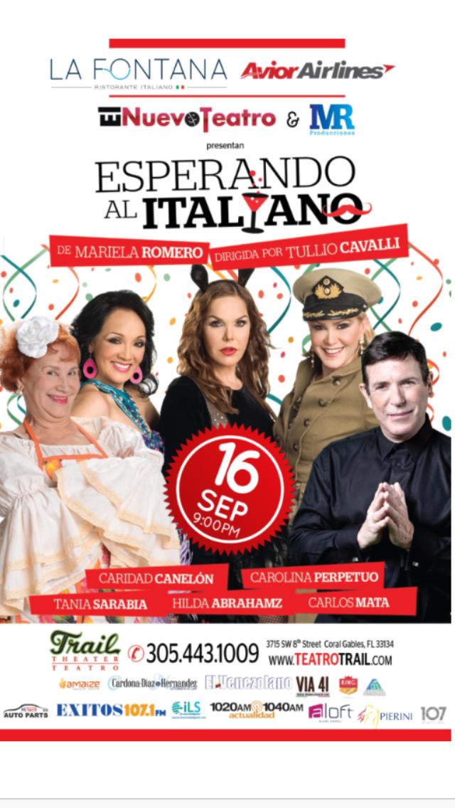 El elenco de la obra Esperando al Italiano