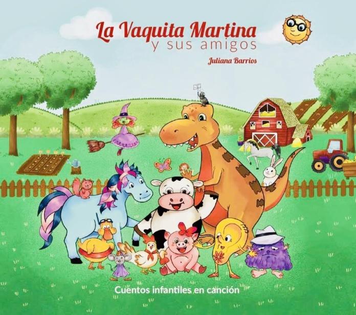 Portada DISCO La vaquita Martina y sus amigos